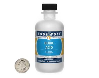 Boric Acid / 4 Ounces / Fine Powder / 99.9% Pure ACS Grade / Same Day Shipping