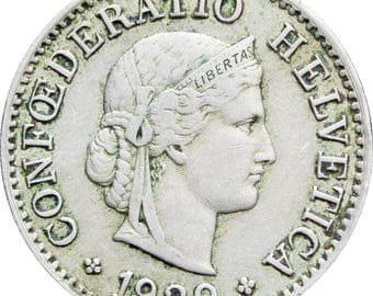 1929 5 Rappen Switzerland Coin