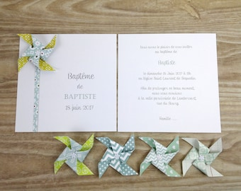 10 to baptism share - for girl or boy green windmill