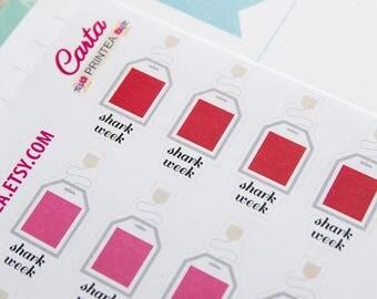 27 cute vampire teabags stickers, period sticker, planner stickers, shark week reminder, lingerie sticker, eclp filofax happy planner
