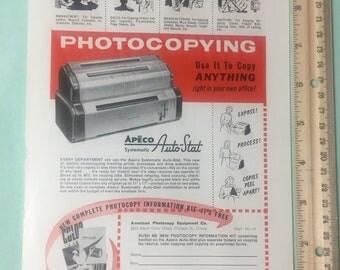 1954 magazine ads - Apeco autostat, Postum, Alabama, Linguaphone, Fort Myers Florida