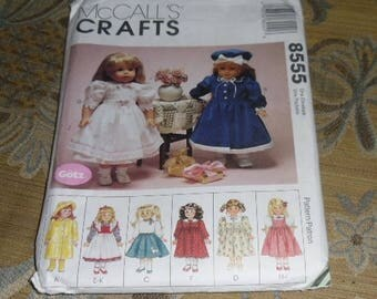 1996 McCall's Craft Pattern #8555 Gotz Doll Clothes Uncut and Unused