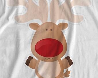Christmas - Rudolph Reindeer - Iron On Transfer