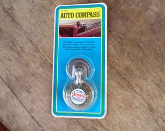 unopened. MIP. Automobile Compass. Jacques Seeds. Farming Advertising. Vintage Auto Compass. Original Package. Hong Kong. auto compass.
