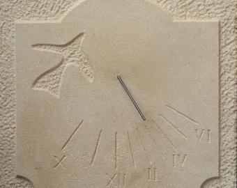 Sundial declining Estaillade stone