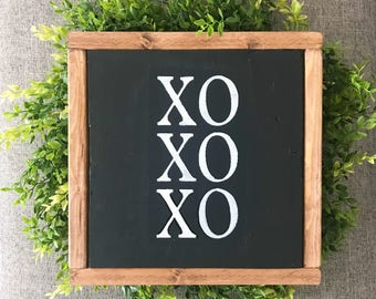 XO Valentine's Day sign, home decor, wood sign