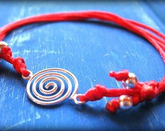 pachamama friendship bracelet peruvian silver jewelry gift with meaning spiritual gifts symbolic jewelry from peru spiritual bracelets red