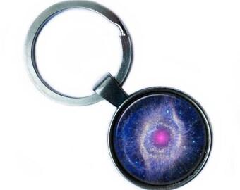 NASA Photograph Helix Nebula Keychain Keyring