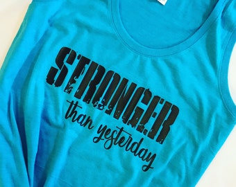 Stronger than yesterday tank