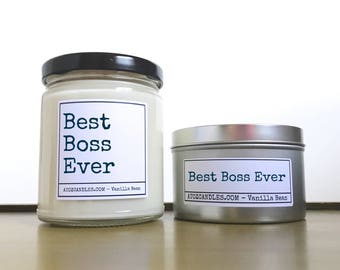 Gift for Boss | Boss Gift | Boss Candle | Best Boss Ever | Boss's Day | Boss Candle | Customized Boss Gift | Personalized Boss Gift