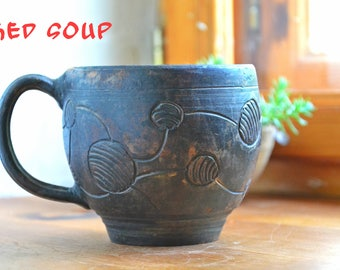 tea mug, pottery mug, pottery cup, Ceramic cup, ceramic mug, Clay mug, pottery tea cup,