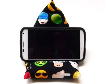 Cell Phone Holder, Smartphone Holder, Cell Phone Pillow, IPhone Holder, Handcrafted, Cotton Fabric, Washable