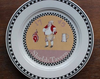 Vintage Williamsburg Shields Tavern Plate By Homer Laughlin Made In USA