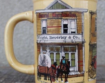 Vintage Old West Main Street Coffee Mug Enesco 1980