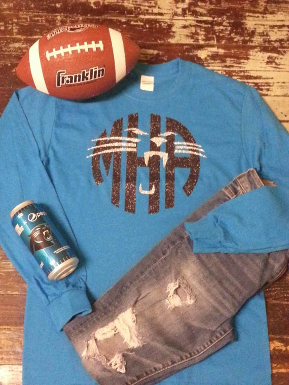LONG Sleeve - FULL Chest Design - Panthers (INSPIRED) Monogrammed Tee
