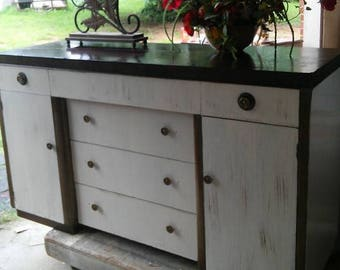 RePainted Art Deco Style Large Buffet