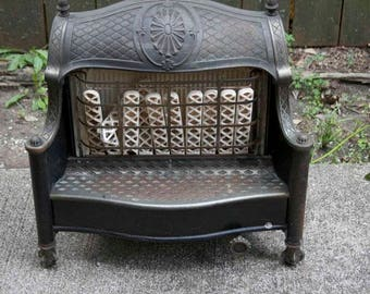 FREE SHIPMENT Gas Fireplace | Architectural Vintage Cast Iron Gas Radiator | Fireplace | Radiator | French Victorian