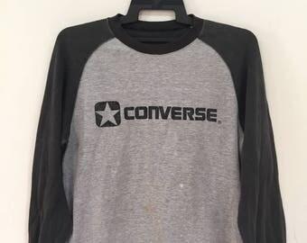 Vintage converse jumper sweatshirt spellout big logo sweatshirt hoodie rare