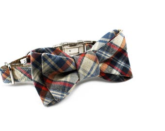 Luxury Dog or Cat Bow Tie - The CROSBY // Classic (multi plaid print)