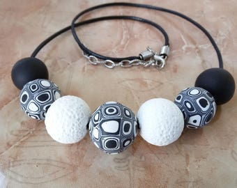 Black and white Simple necklace women fashion nice Gift girl urban jewelry black necklace white  jewelry nice gift accessory beaded necklace