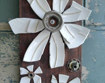 Broken and beautiful wall hanging flower garden