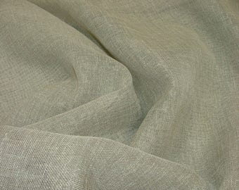 Pebble Linen Look Lead Weighted Voile Net Muslin Curtain Fabric - Extra Wide 300cms