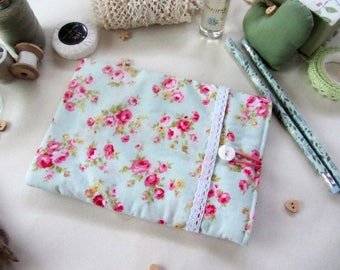 Handmade Kindle Cover - Kindle Sleeve - Kindle Case - Fabric Kindle Cover - Floral Kindle Case - Gift for Her - Bookworm Gift - Gift for Her