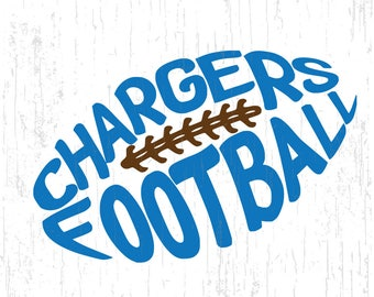 chargers football,Los Angeles Chargers,football svg,SVG,DXF,PNG for use with Silhouette Studio and Cricut Design Space