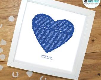 Goo Dolls Iris Vintage Heart Style Personalised Song Lyric Print