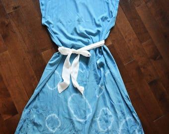 the flora dress - summer dress - women's dress - maternity dress - tie dye dress  - shibori dress - tie dye - shibori - indigo dyed - dress