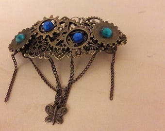 Large barrette steampunk #2