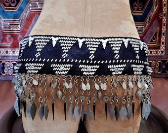 Assuit Belt, Antique, Czech Glass, Lacy metal Fringe, Belly Dance, Tribal Fusion, Art Deco That!