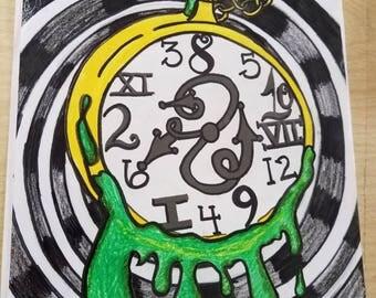 "Original artwork ""Waste"" of time"