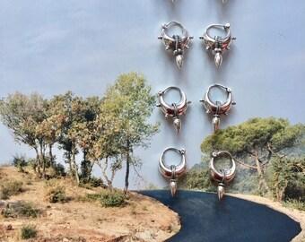 Tribal Spike earrings Sterling silver