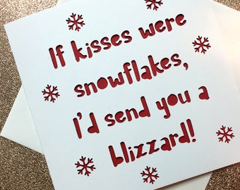 Christmas Card Boyfriend, Girlfriend, Wife, husband, card for him, card for her, couple, partner, love, christmas card