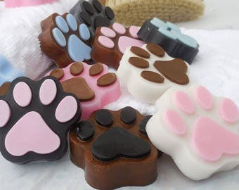 Paw Print Soaps - Dog Paw Soaps - Dog Soap Favor - Dog Party - Dog Lover - Kid Soap - Guest Soap - Birthday Favor - Puppy Paw - Fun Gift - 5