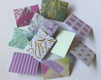 Mini envelopes, Tooth fairy letters, pastel, pretty mini cards, love notes, tiny cards, party favour,  scrapbooking , lunch box note