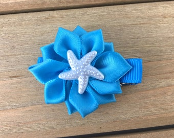 Starfish hair clip, Turquoise Hair Clip, hair clips for girls, beach hair clips, girls hair clips, starfish Alligator Clip, starfish clip
