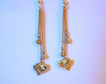 Earrings heart charm