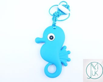 Silicone Baby Teething Necklace Pendant Seahorse Mum & Baby Jewellery 5 Colors Safe Bpa Free FREE UK SHIPPING