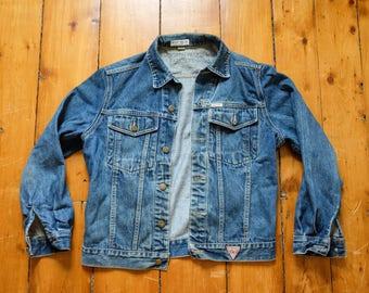 Vintage Distressed Jean Jacket Guess