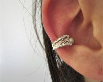 Ear cuff - ear ring - sterling silver - wire wrapping