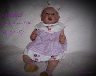 Reborn baby, Saskia, Bonnie Brown Sculpt , Limited Edition,   COA,lots of extras, Ready to ship!