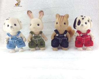 Sylvanian Families/ Calico Critters crochet clothes for brother Made to Order #3003