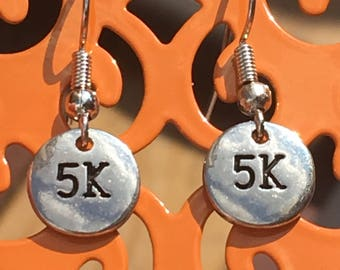 5K charm dangle earrings