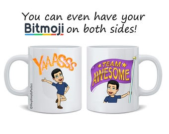Custom Bitmoji Mug, Bitmoj, Bitmoji Coffee Mug Friend Mug, Best Friend Mug, Best Friend, Bridesmaid Gift, Bridal Shower Gift, Custom Gift