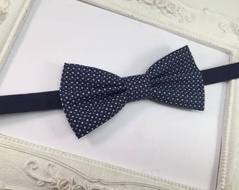 Bow tie with spots Blue Navy - child