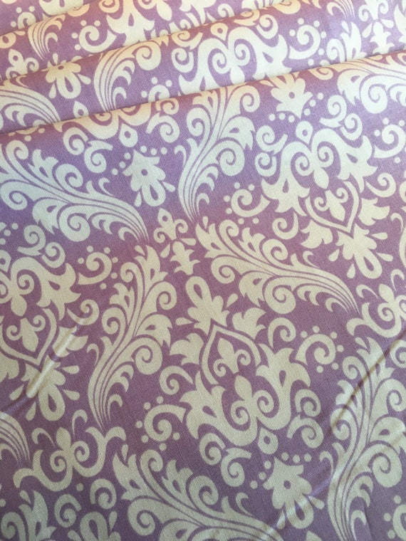 Damask Basics Riley Blake Hollywood Lavender BTY by the yard **Remnant