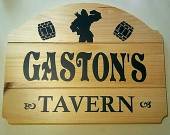 Gaston's Tavern wood plaque