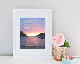 Sandy Toes & Salty Kisses Holiday Sunset Print